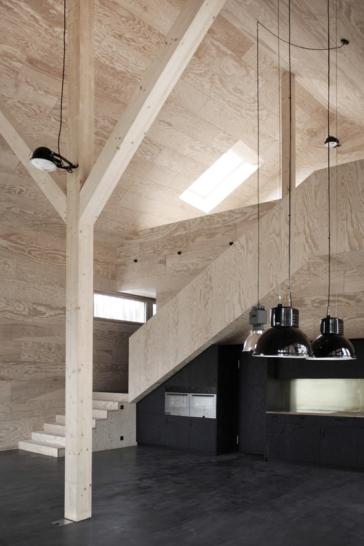 Foto: © Tom Munz Architekt: Haus am Bodensee, Schweiz, Kiefernholz